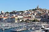 Puzzles para Adultos y niños 1000 Piezas, Quai A Voile Marseille Cities,29.5'x19.7'