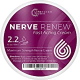 Life Renew: Cream – Fast-Acting Nerve Pain Relief Cream – 2.2 fl. oz/65 ml – Maximum Strength and Fast Absorption – Safe and All-Natural – Targeted Nerve and Muscle Pain Relief