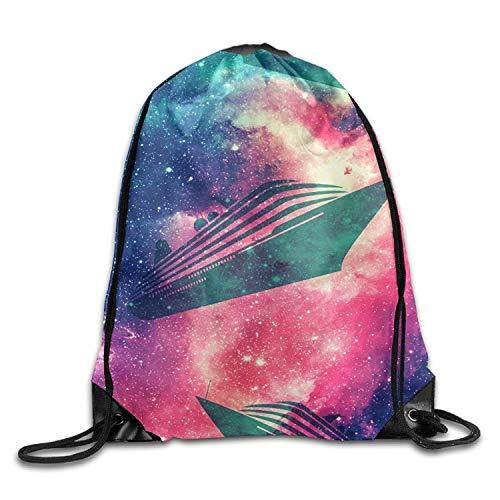 Jiger Dark Creature Unisex Lightweight Backpack Gym Drawstring Bag