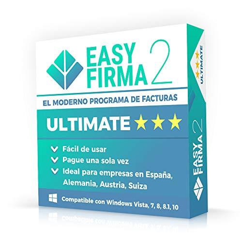 EasyFirma 2 Ultimate - ES: Programa de facturas, con avisos, ingresos, desembolsos, IVA, inventorio, etc.