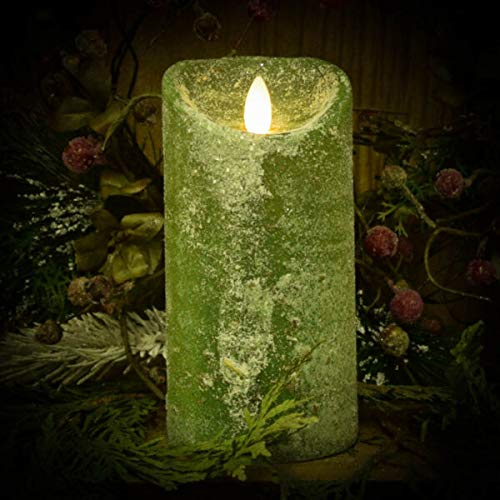 for Country Christmas Pine Over Snow Pine & Bayberry 3'x6' Flameless Pillar Candle MAMOLIK Supplier for Home & Garden