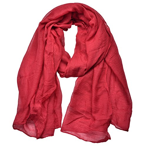 Woogwin Light Soft Scarves Fashion Scarf Shawl Wrap For Women Men (Winered)
