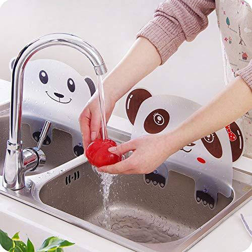 Lindo panda con forma de agua, protector contra salpicaduras, tablero deflector, ventosa, lavabo, tablero para fregadero, utensilios de cocina, placa deflectora de agua