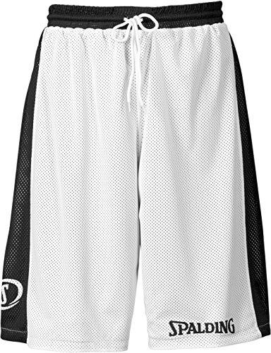 Spalding Hose & Shorts Essential Reversible Herren Shorts, schwarz/weiß, XXS