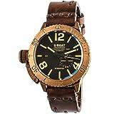 U-Boat automatico Sommerso bronzo subacqueo orologio cinturino in pelle marrone 8486
