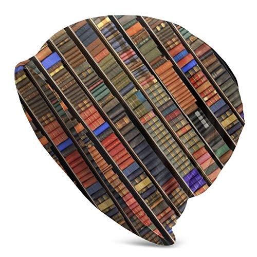 LinUpdate-Store Alte Bibel Bücher auf dem Vintage Bücherregal Strickmütze Mütze Hut Strickmütze Kappe Schädelkappe für Outdoor-Aktivitäten