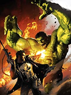 PhotoSight Punisher vs Hulk Fight Awesome Art 24x18 Print Poster