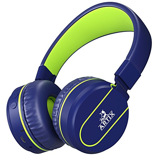 Artix RS7 Sports Foldable Bluetooth on Ear Headphones with 3.5mm Cable - Blue