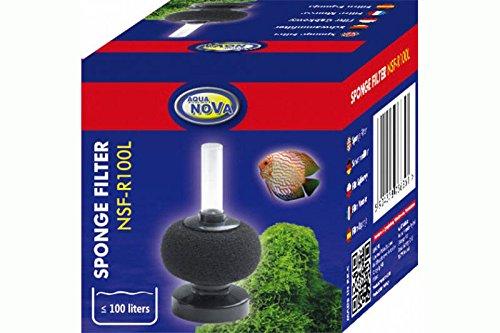 Aqua Nova NSF-R100L - Filtro rotondo per acquario in spugna per acquari, friggere e carri di quarantena