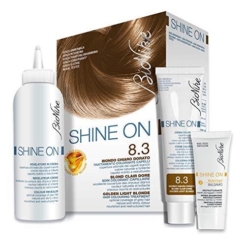 Bionike Trattamento Colorante Capelli Shine On (Tono Biondo Chiaro Dorato 8.3) - 125 ml.