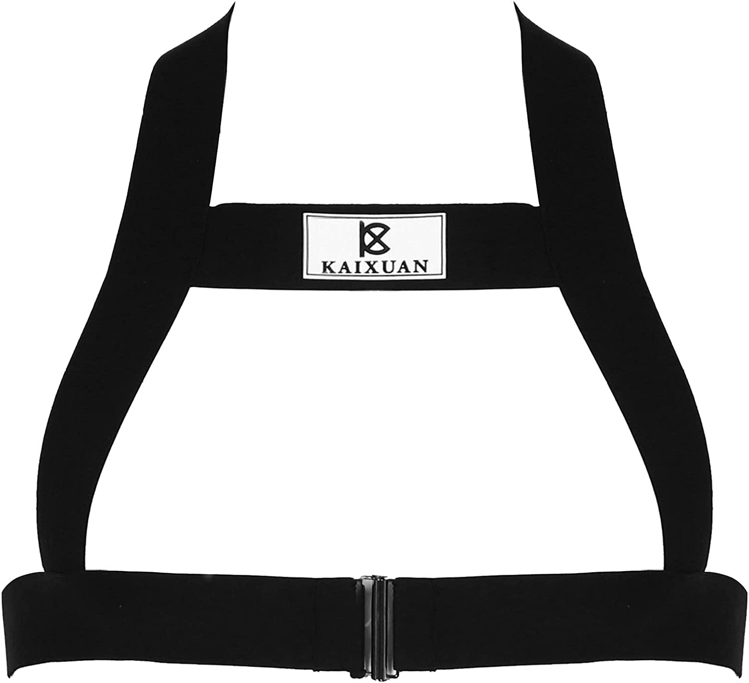 YONGHS Mens Elastic Shoulder Strap Chest Harness Belt Muscle Tops Fancy Club Party Costume