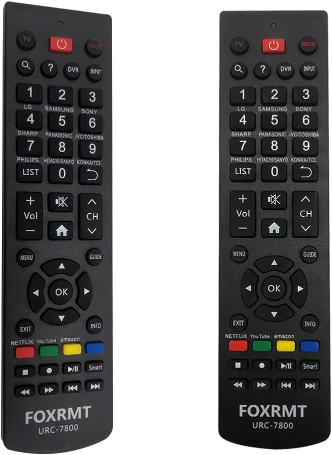 FOXRMT Reemplazo Mando a Distancia Universal para Philips/Samsung/LG/Sony/Sharp/HAIER/RCA/Westinghouse/Insignia/VIZIO/MAGNAVOX/SANYO/VESTEL/SEIKI/Sky TV - Mando Universal