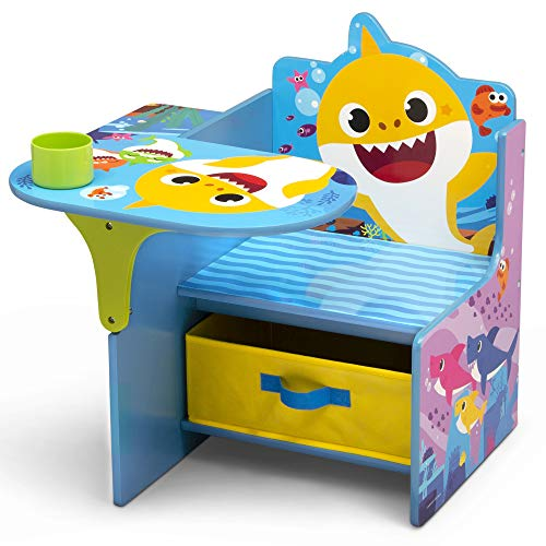 Baby Shark Chair Desk with Storage Bin - Ideal for Arts & Crafts, Snack Time, Homeschooling, Homework & More by Delta Children