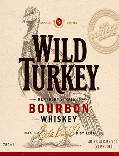 Wild Turkey Bourbon Metal Tin Sign Decor 8x12 Inch