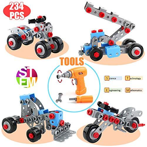 Juguetes Educativos Niño 3 4 5 6 Años- Bloques de Construcción Puzzle Rompecabezas Juegos de Construccion DIY Coches de Juguetes Montessori 3D Creativo Educativo Regalos(234 PCS)