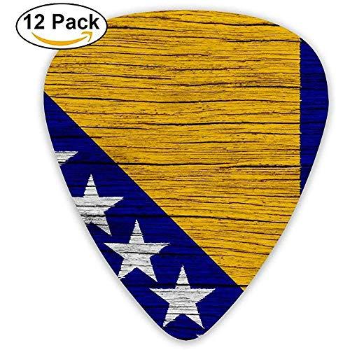Houten vlag Bosnië Pick 12 stuks