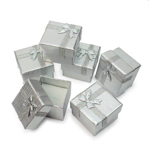 Pinzhi Cartón Cajas de Regalo para Joyas Pendiente Collar Anillo