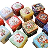 JHion 12 STÜCK/Weihnachten kleine Box Eisen Box Verpackung Geschenkbox backen Keksdose Zinn Zucker Box Serie