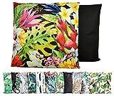 JACK XXL Outdoor Lounge Kissen 60x60cm Motiv Dekokissen Wasserfest Sitzkissen Garten Stuhl, Farbe:Dschungelpracht