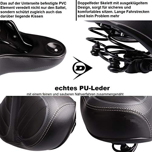 Dunlop FGS19 ergonomischer Cityrad Touring Gel Fahrradsattel, Damen Cityradsattel gefedert, Stoßresistenter weicher Gelsattel, Fahrrad Sattel extra gepolstert, Komfortsattel, schwarz - 4