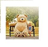 Hugfun Huge Jumbo 93' Teddy Bear 8 Foot Stuffed Plush Animal Toy Gigantic Large