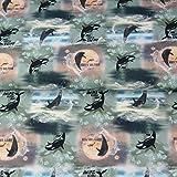 Loopomio Stenzo Jersey Stoffe Delfin Wale Orca Delphine