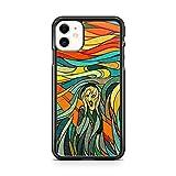 Générique - Carcasa rígida para iPhone 11, diseño de Edvard Munch The Scream, color negro
