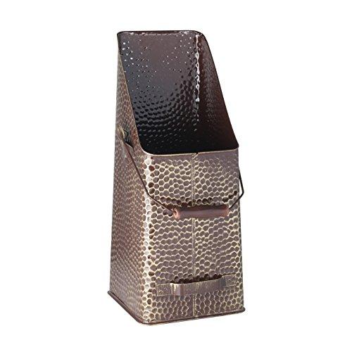 Kamino-Flam - Cubo para leña, Cesta para carbón, Contenedor para leña, Cajón de almacenamiento, Caja para almacenar leña y carbón - 20/20/50 cm