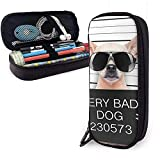 Cani creativi Divertente Chihuahua Glasse Simpatico astuccio per penna Astuccio in pelle A...