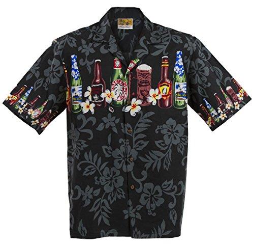 Winnie Fashion Auténtico hecho en Hawaii; Camisa Aloha de botella de cerveza artesanal hawaiana