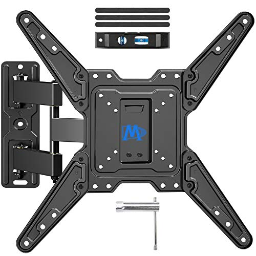 Mounting Dream Full Motion TV Wall Mount Bracket for 26-55 Inch TVs, Swivel TV Wall Mount – Wall Mount TV Bracket with TV Center Design & Extend 16.7 Inch , up to VESA 400x400mm and 77LBS