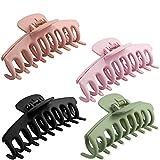 4 Stück Große Haarklammer,Klaue Clips,Haarspangen,haarspangen mädchen,Unregelmäßige,Rutschfeste...