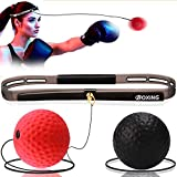 HCFGS Boxing Reflex Ball, 2 Speed Levels Boxing Fight Ball, Portable Pro Boxing Training Speed Ball Improve Reaction Time Speed, Punch Focus Coordinat