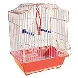 Utile per Gabbie di Grandi Dimensioni e voliere Uccelli Abbeveratoio da Litri 2 per ornitologia Fornito di Anello Reggi Serbatoio e posatoio. canarini voliere e Simili