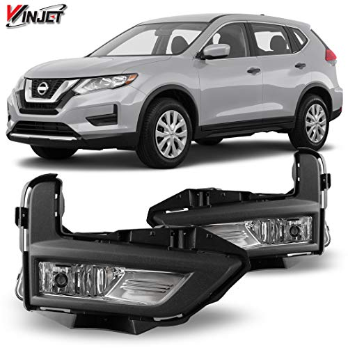 Winjet OEM Series for [2017 2018 2019 Nissan Rogue] Driving Fog Lights + Switch + Wiring Kit
