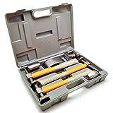 AB Tools-Toolzone 7pc Kit de reparación de carrocería de Martillo y Plataformas rodantes Encogimiento Martillo Mangos de Fibra de Vidrio TE602