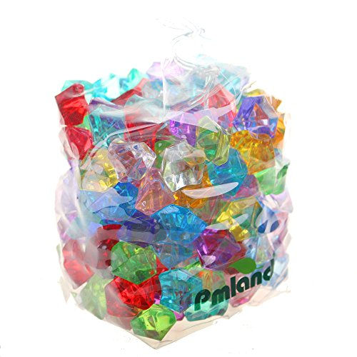 PMLAND Acrylic Jewels Gems, Bulk 1 Pound per Bag, Approximately 160 Pieces, Assorted Colors. Buy it now for 9.95
