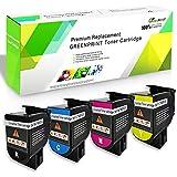 4-Farben-kompatible Tonerkartuschen CS317 CX317 CS417 CX417 CS517 CX517 Standardkapazität 3000 Seiten BK, 2300 Seiten CMY für Lexmark-Drucker CS317dn CX317dn CS417dn CX417de CS517de CX517de GREENPRINT