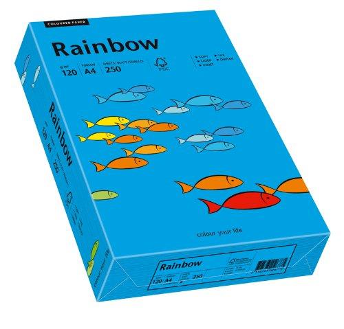 Papyrus 88042766 Drucker-/Kopierpapier farbig, Bastelpapier: Rainbow 120 g/m², A4, 250 Blatt Buntpapier, matt, intensivblau