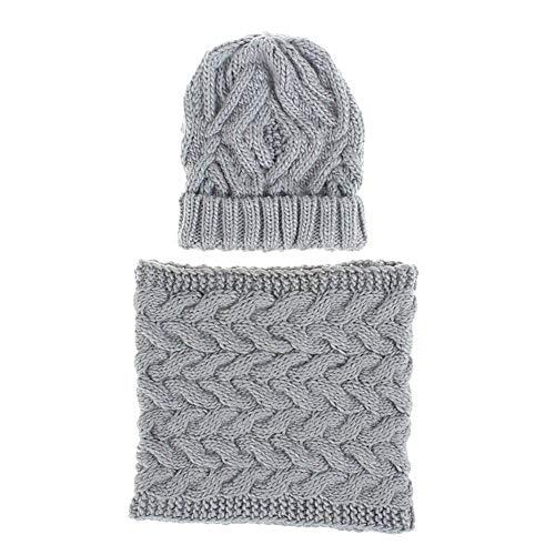 Ardorman Winter Warm Beanie Hat + Scarf, Unisex Thermal Winter Warm Knitted Beanie Hat Glove, Bufanda De Punto Suave Y Gruesa para Mujer