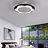 WRQING Ventilador de Techo con Luz y Mando a Distancia Silencioso, 120W Lámpara de Techo Ventilador Invisible Regulable 3 Velocidades Fan Iluminación para Comedor Pasillo Dormitorio