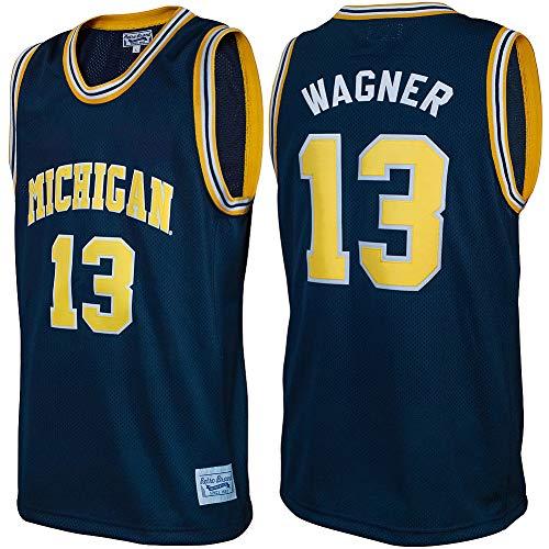 Elite Fan Shop Moritz Wagner Retro Michigan Wolverines Basketball Jersey - X-Large - Moritz Wagner Navy