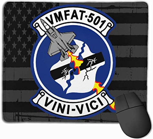 Marine Fighter Attack Training Squadron 501 (VMFAT-501) Mauspads rutschfeste Gaming-Mausunterlage Mousepad