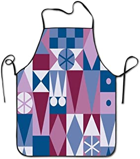 HOOSUNFlagrbfa Mary Blair Carpet Funny Design Apron Personalized Kitc Restaurant Pinafore with Neck Strap Chef Home Barber Kitchen Gardening