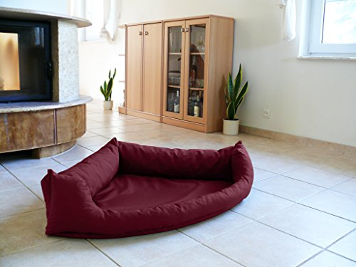 Artur Soja Dakota Perros Ortho Bed Esquina Cama sofá de Esquina Cama para Perros Perros Talla XL 120cm nº 24Burdeos