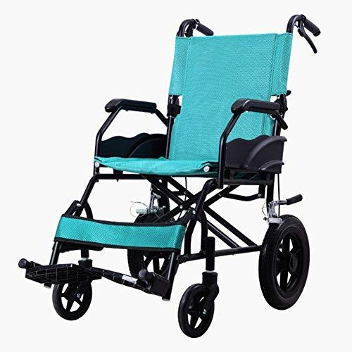HXCD Rueda Plegable para el hogar, Rueda portátil Plegable de aleación de Aluminio Gruesa, Personas Mayores discapacitadas, Rueda de pequeño Volumen, Rojo FG/Verde