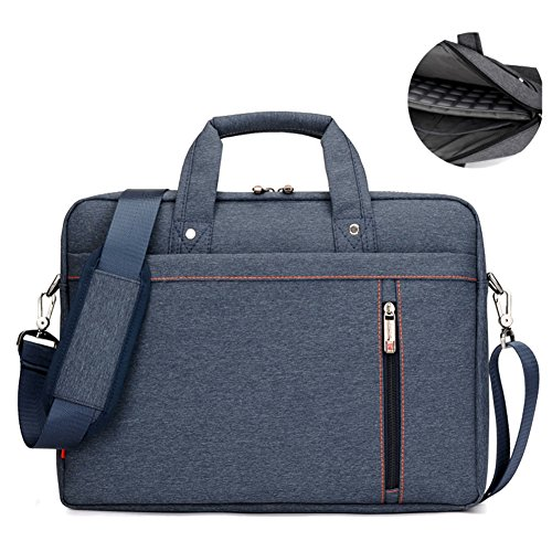 SHUL Water Resistant 17 inch Business Laptop Shoudlder Bag Shockproof Messenger Crossbody Bag Briefcase for Notebook Computer Chromebook Ultrabook Acer Dell Hp Sony Ausa Samsung Lenovo Blue