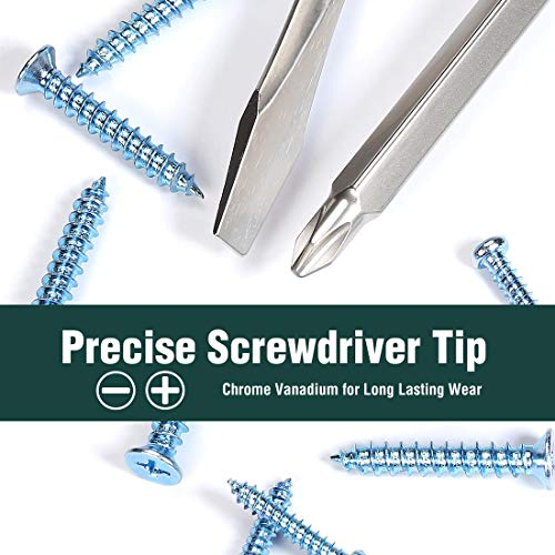 WORKPRO 2-piece Screwdriver Set, Premium Color-Coded Acetate Hard Grip Handle, Slotted/Phillips Screwdrivers, Drop Forged Chrome-Vanadium Shaft