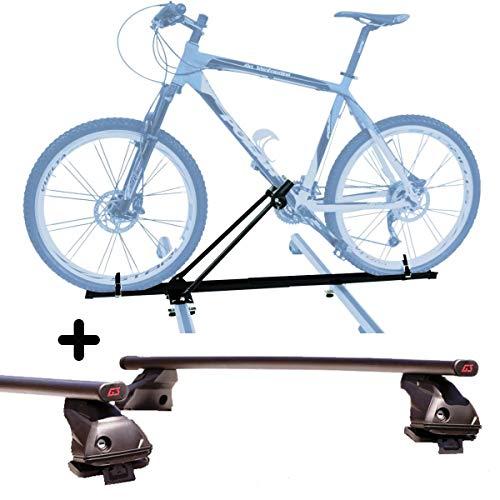 PROPOSTEONLINE Portabici da Tetto Auto Compatibile per Nissan Juke 5p (2010 in Poi) Porta Biciclette Compatto con Chiave Chiusura comprese Barre Portatutto
