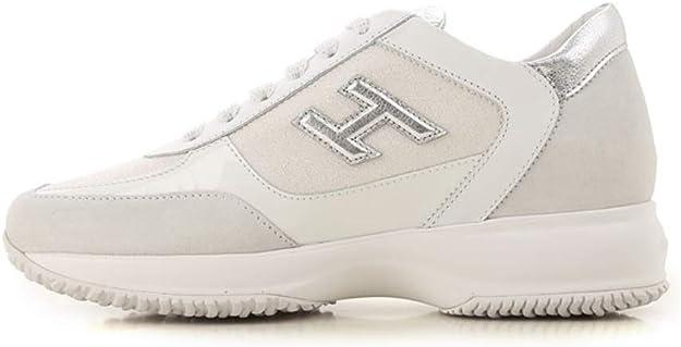 Hogan Scarpa Sneakers Donna Interactive HXW00N0BH50KL70351 Argento ...